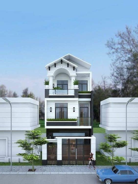 Mẫu nhà mái thái giá 300 triệu 3 tầng