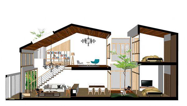 Nhà ống 2 tầng mái thái mặt tiền 5m thiết kế lệch tầng