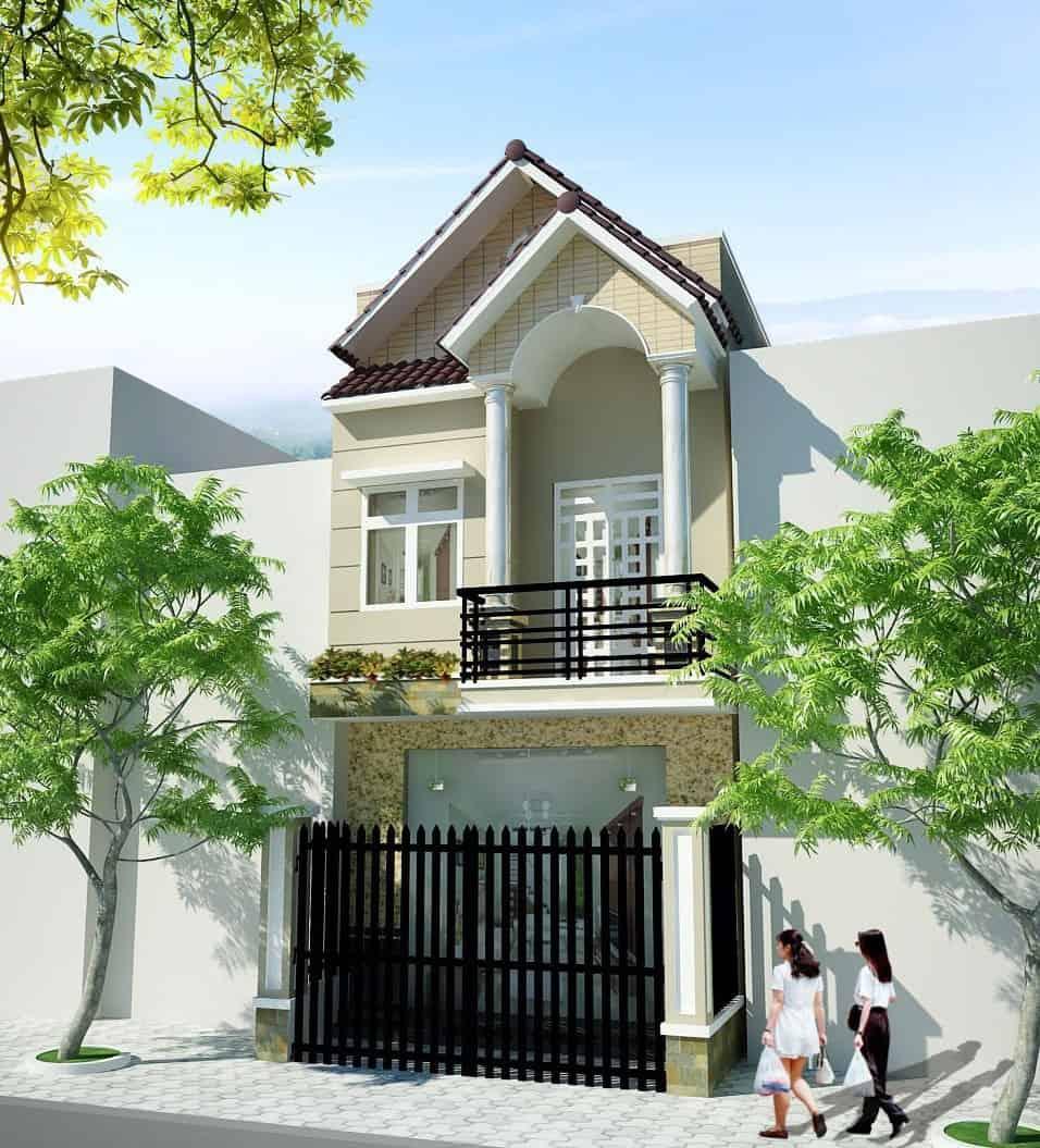 Thiết kế nhà ống 2 tầng 5x20 mái Thái