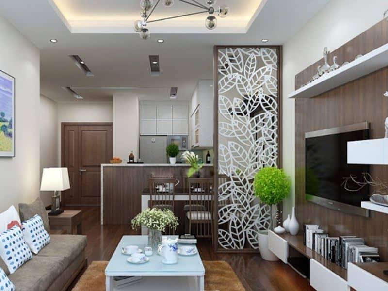 Vách ngăn họa tiết đẹp cho phòng khách